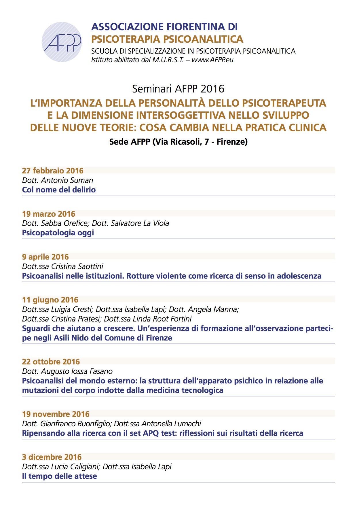 Seminari AFPP 2016